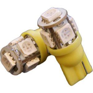 2 Ampoules LED T10 - 12V - 0.7W - 5xSMD5050 - Orange - Autoled Technologie