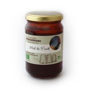 Miel de forêt bio dans pot en verre de 375 g