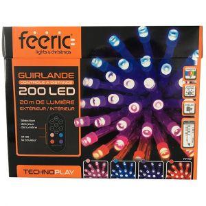 Guirlande lumineuse télécommandée 20 m Multicouleur 200 LED