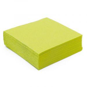 50 Serviettes Microgaufrées - Vert Amande