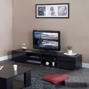 Meuble TV Julius Magnus avec 2 tiroirs et 4 niches