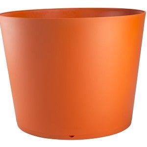 Grosfillex Tokyo 195 L - Pot de fleurs modulable avec soucoupe Ø80 x 55 cm