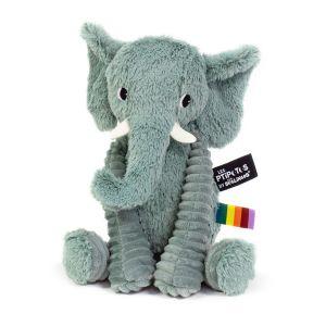 Les Déglingos Peluche Les Ptipotos Dimoitou l'éléphant vert (26 cm) Les