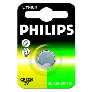 Image de Philips CR1220 - Batterie lithium 3V