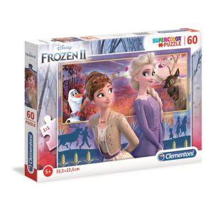 Clementoni Puzzle SuperColor 60 pièces - La Reine des Neiges 2