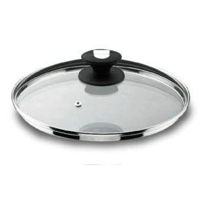 Lacor 71928 - Couvercle en verre 28 cm avec sortie de vapeur