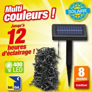 Outiror Guirlande solaire 400 Leds