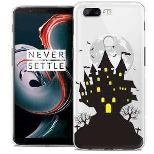 CaseInk Coque OnePlus 5T (6 ) Extra Fine Halloween Castle Scream