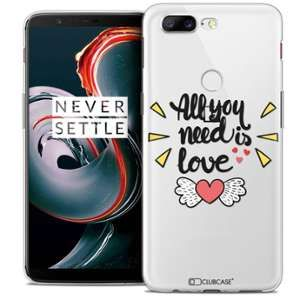 CaseInk Coque OnePlus 5T (6 ) Extra Fine Love All U Need Is