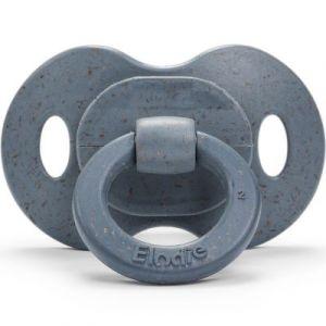 Elodie Details Tétine en Bambou - Sucette en Silicone à partir de 3 mois - Orthodontique - Tender Blue, Bleu
