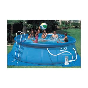 Intex 56912FR - Piscine hors sol autostable Easy Set ronde Ø 457 x 122 cm
