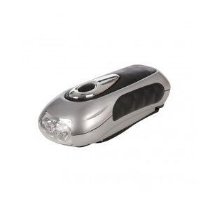 Silverline 839905 - Lampe-torche à manivelle 3 LED