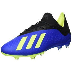 Adidas X 18.2 FG, Chaussures de Football Homme, Bleu (Fooblu/Amasol / Negbás 000), 44 EU