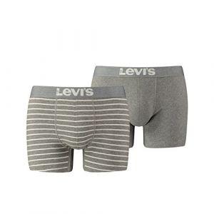 Levi's Lot de 2 Boxers Vintage 200SF -Gris Chiné - S - Gris