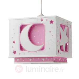 Dalber 63232 - Suspension carrée Lune/Etoiles