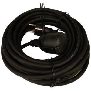 Unitec Rallonge caoutchouc H05RR-F 3G1,5 25m noir - FP