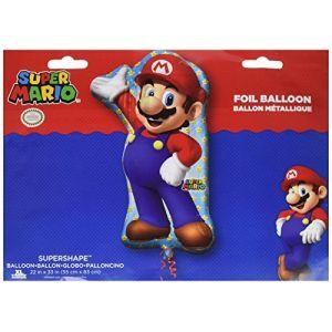 Amscan Ballon en alu Mario Bros (55 x 83 cm)