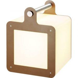 DM Lights SLV - Cube portable extérieur Omnicube IP54 H43 cm - Rouille