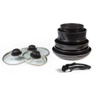 Arthur Martin AMD7962 - Batterie de cuisine 10 pieces noir