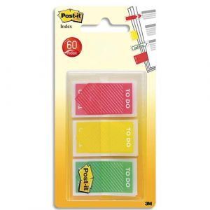 Post-It 20 marque-pages to do - lot de 3