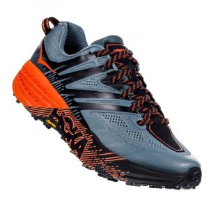Hoka Trail running -one-one Speedgoat 3 - Stormy Weather / Tangerine Tango - Taille EU 46 2/3