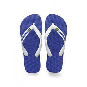 Havaianas Brasil Logo, Tongs Mixte Adulte, Bleu (Marine), 37/38 EU (35/36 Brazilian)