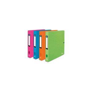 Elba Boîte de classement Art Pop - polypro 7/10e - dos 2,5 cm - A4+ - coloris assortis pop