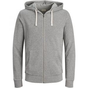 Jack & Jones Sweatshirts Jack---jones Eholmen Sweat Zip Hood - Light Grey Melange - XL