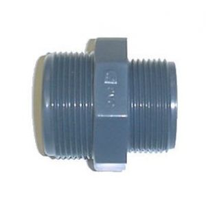 Centrocom Mamelon réduit PVC pression à visser 2'-1'1/2