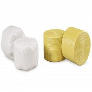 Bruder Toys Round Hay Bales - Sorted - Wrapped And Unwrapped For Bale Wrapper (2 Piece)