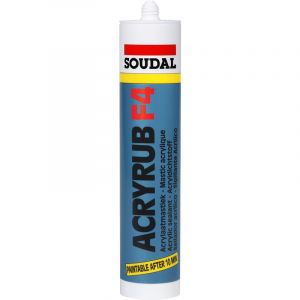 Soudal Mastic acrylique acajou - 300 ml - Acryrub F4