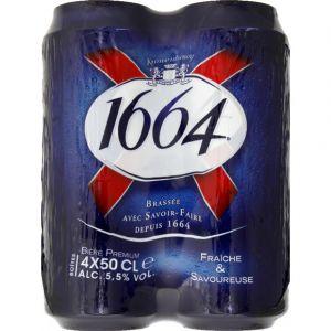 1664 Bière blonde, 5,5% vol. - Les 4 boîtes de 50cl