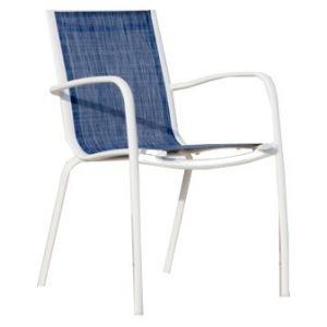 Proloisirs Linéa - 2 fauteuils de jardin en aluminium et textilène