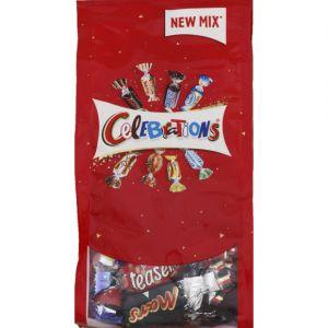 Célébrations Assortiment de chocolats au lait fourrés et de biscuits enrobés de chocolat au lait 200g