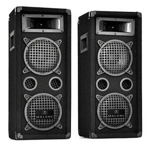 Auna PW-08X22 - 2 enceintes PA avec 2 caissons de basses 1600W
