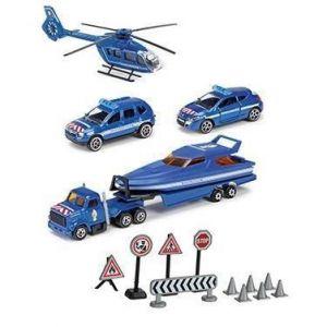Smoby Sos Playset Gendarmerie - 3 véhicules + 1 hélicoptère + Accessoires de jeu