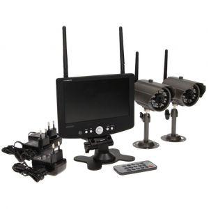 Orno - Système de surveillance autonome avec écran et deux caméras