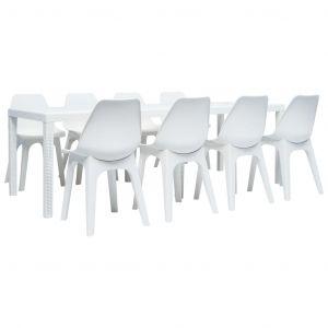 Salon de jardin plastique blanc - Comparer 366 offres