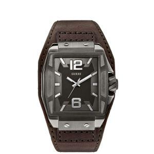 Guess W0267G1 - Montre pour homme avec bracelet en cuir