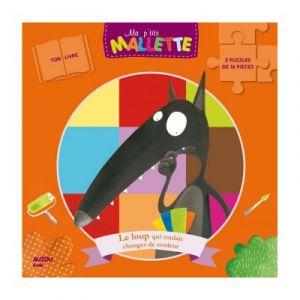Editions Auzou Le loup qui voulait changer de couleur - Puzzle 2x16 pièces
