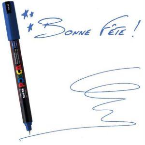Posca Marqueur pointe calibrée extra fine 0,7 mm Bleu foncé