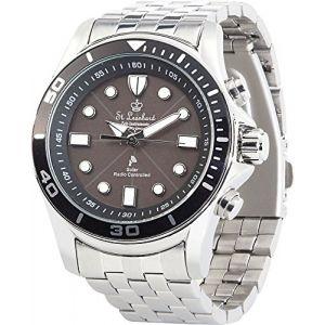 St. Leonhard NC7376-944 – Montre Bracelet pour Homme, Bracelet en Acier Inoxydable Couleur argenté