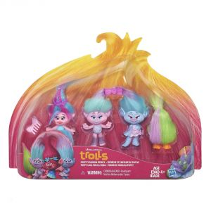 Hasbro Pack de 4 Trolls Poppy Shopping