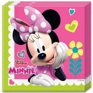 20 serviettes en papier Minnie Happy (33 cm)