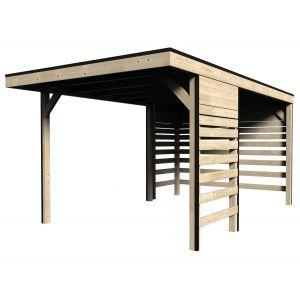 Decor et jardin Carport en bois massif 3 x 4,85 m 13 m2