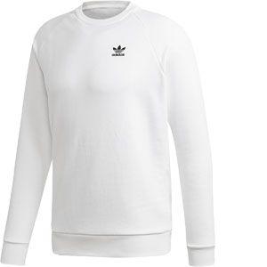 Adidas Essential Crew Sweat-Shirt Homme, White/Black, FR : M