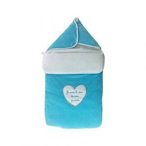 30dae81a76bb5 Fruit de ma Passion Nid d ange pour bébé 0 à 6 mois turquoise -