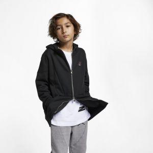 Nike Sweat à capuche entièrement zippé Jordan Flight Lite pour Garçon plus âgé - Noir - Taille L