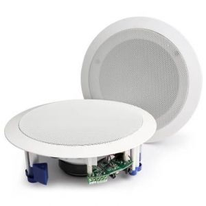 Power Dynamics Enceintes plafond amplifiées avec Bluetooth 20 cm 120W
