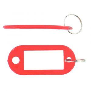 Safetool Porte-clés avec étiquette - rouge - sac de 20